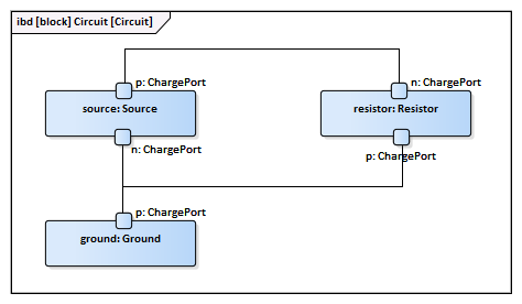 Electrical Circuit Simulation Example | Enterprise Architect User Guide