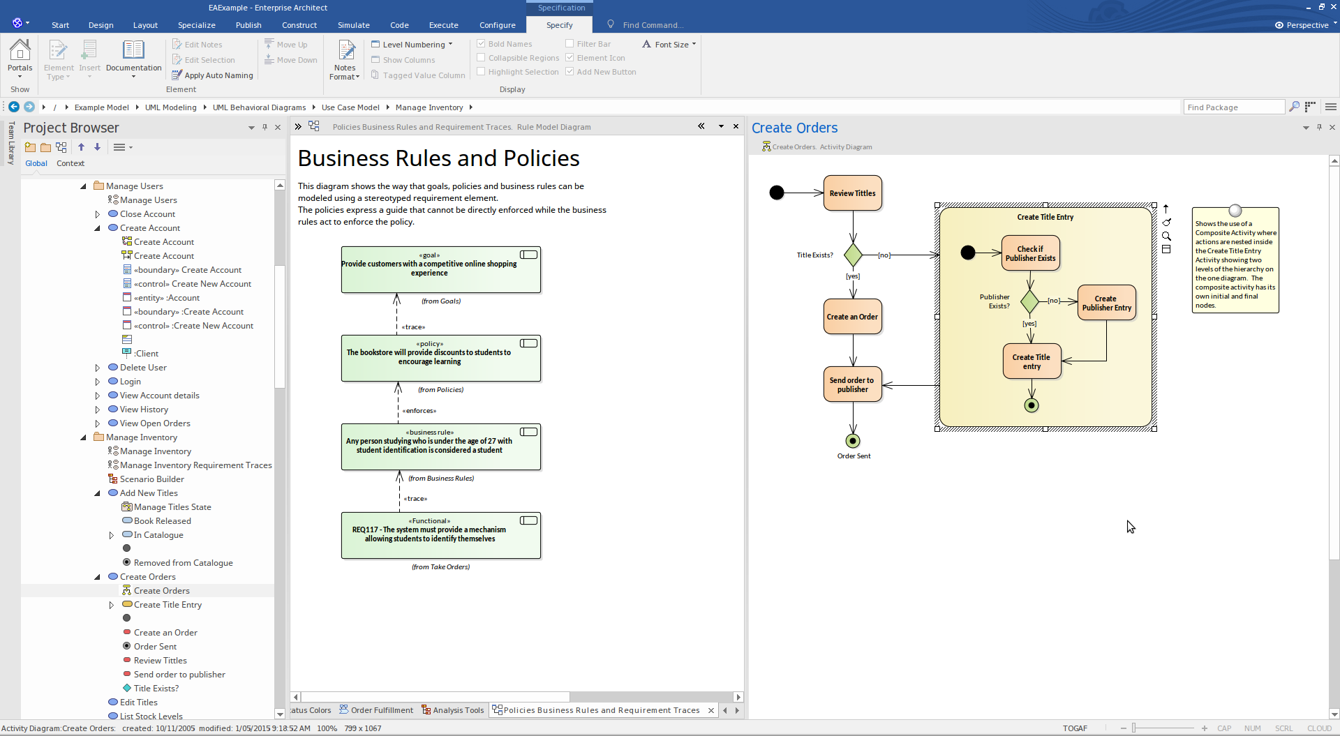 Enterprise Architect Professional Edition: Business Modeling