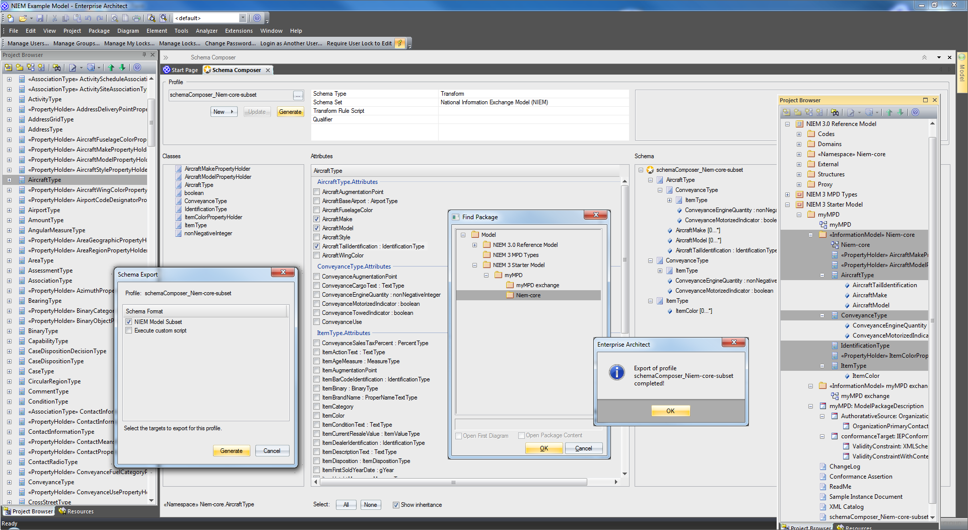 Enterprise Architect Ultimate Edition: Schema Composer