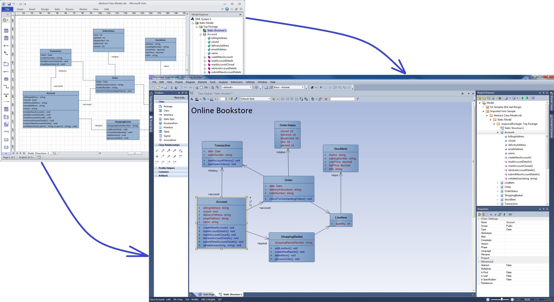 System Architecture Diagram Visio.Moving Visio Diagrams Into Enterprise Architect