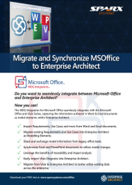 Migrate and Synchronize MSOffice to Enterprise Architect