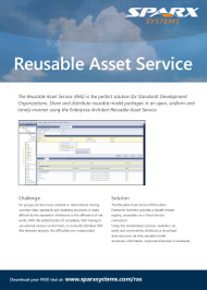 Sparx Systems Reusable Asset Service